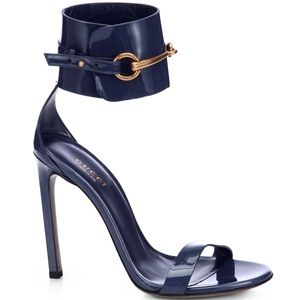 "Gucci ""Ursula"" Blue Ankle-Strap Sandals 39.5"